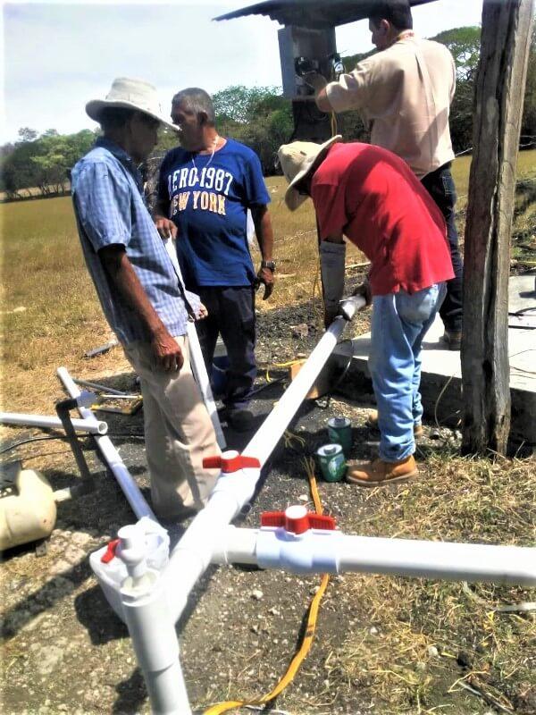 Instalación de sistema de riego