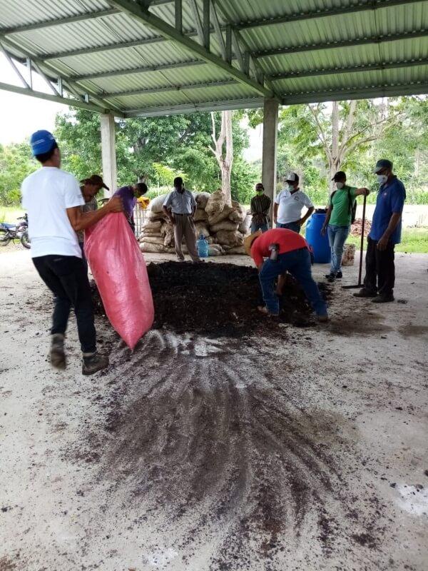 Elaboración del abono orgánico (Bokashi)