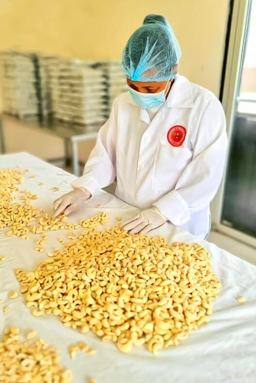 Preparación de la nuez de marañón